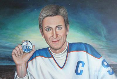 Wayne Gretzky Painting - Wayne Gretzky by Ljubomir Ilic