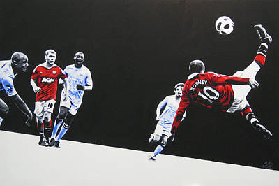 Painting - Wayne Rooney - Manchester United Fc by Geo Thomson