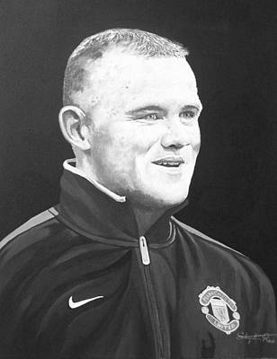 Wayne Rooney Print by Stephen Rea