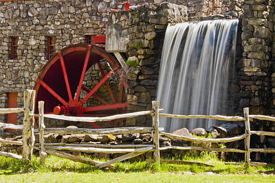 Wayside Grist Mill 4 Art Print by Dennis Coates
