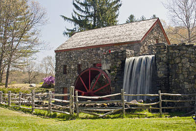 Wayside Grist Mill 5 Print by Dennis Coates