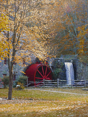 Wayside Inn Grist Mill Art Print