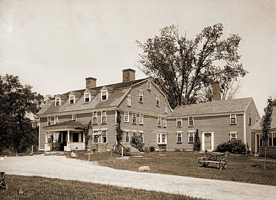 Wayside Inn Drawing - Wayside Inn, Sudbury, Mass, The, Wayside Inn Sudbury by Litz Collection