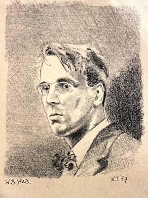 W.b. Yeats Art Print by John  Nolan