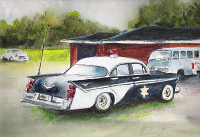 Desoto Car Painting - Car 54 Where Are You? by Bobby Walters