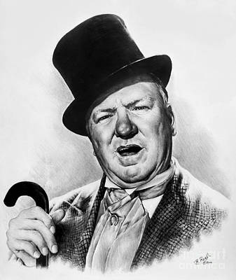 Famous Faces Drawing - Wc Fields My Little Chickadee by Andrew Read