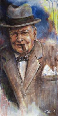 Legends Painting - Churchill by Josh Hertzenberg