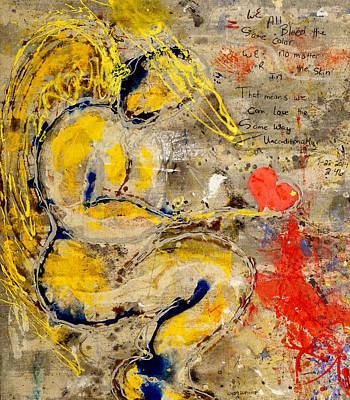 Painting - We All Bleed The Same Color IIi by Giorgio Tuscani