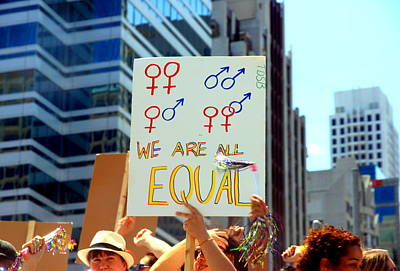 Gay Rights Wall Art - Photograph - We Are All Equal by Valentino Visentini