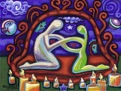 Women Together Painting - We Are Connected by Genevieve Esson