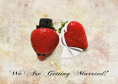 Passion Fruit Mixed Media - We Are Getting Married by Andee Design