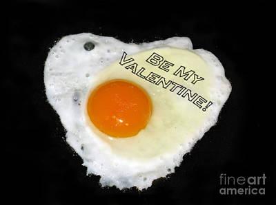 We Are Like Egg And Pepper. Be My Valentine Print by Ausra Huntington nee Paulauskaite