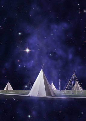 Tipi Photograph - We Are One Tribe by Laura Fasulo