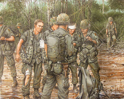 1st Division Painting - We Are Our Brothers' Keepers by Bob  George