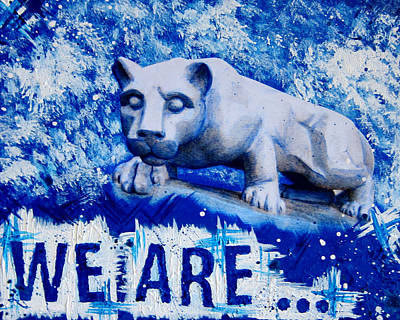 University Of Arizona Mixed Media - We Are... Penn State by Michelle Eshleman