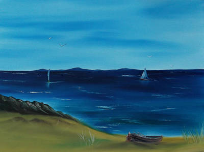 Wet On Wet Painting - We Are Sailing.. by Cynthia Adams