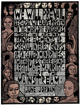 We Are The Mainstream Art Print by Ricardo Levins Morales