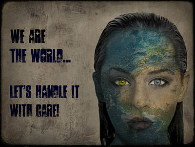 Gale Digital Art - We Are The World by Marie  Gale