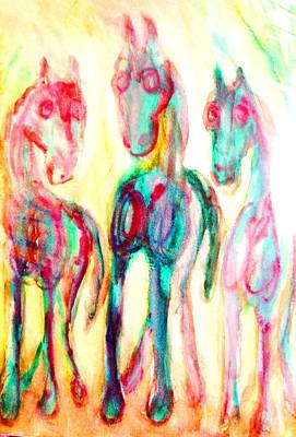 Mental Painting - We Are Playing The Three Wise Men by Hilde Widerberg