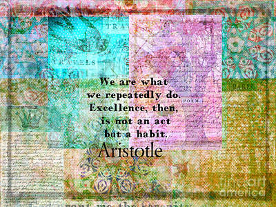 Aristotle Quote About Excellence Art Print
