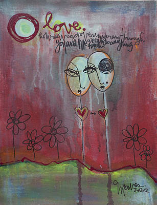 Painting - We Can Do Anything Lollipops by Laurie Maves ART