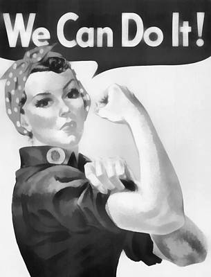 Feminist Mixed Media - We Can Do It by Dan Sproul