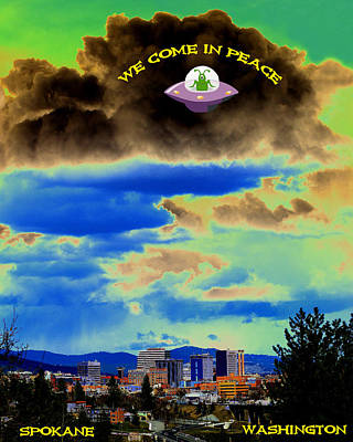 Photograph - We Come In Peace by Ben Upham III