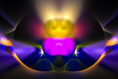 Decorative Digital Art - We Come In Peace Colorful Digital Art by Matthias Hauser