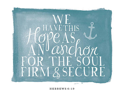 Painting - We Have This Hope As An Anchor by Amy Cummings