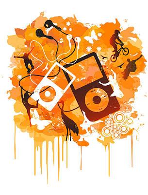 Music Ipod Digital Art - We Love Da Tech by Adz Akin