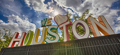 We Love Houston Art Print