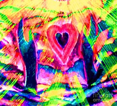 Visionary Art Painting - We Love You Lord by Hazel Holland