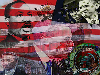 Martin Luther King Digital Art - We Must Act by Lynda Payton