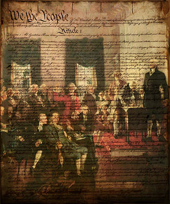 We The People Art Print by Bill Cannon