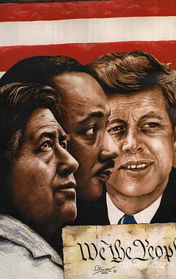 Cesar Chavez Painting - We The People by Bill Olivas