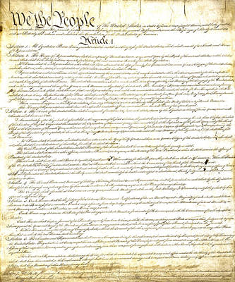 Photograph - We The People Constitution Page 1 by Charles Beeler