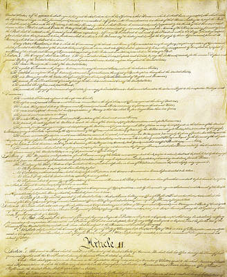 Photograph - We The People Constitution Page 2 by Charles Beeler