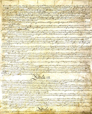 Photograph - We The People Constitution Page 3 by Charles Beeler