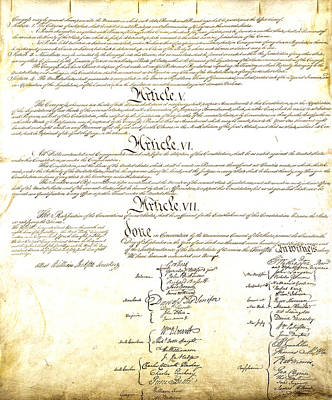 Photograph - We The People Constitution Page 4 by Charles Beeler