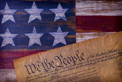Constitution Photograph - We The People by Garry Gay