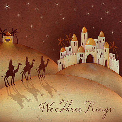 Nativity Painting - We Three Kings by P.s. Art Studios