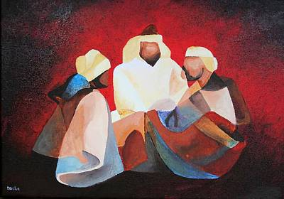Painting - We Three Kings by Tracey Harrington-Simpson