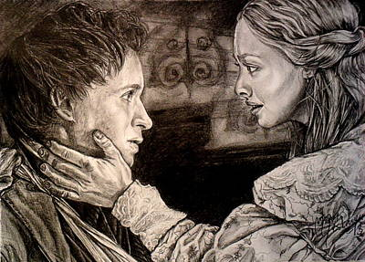 Amanda Drawing - We Will Be Together by Maren Jeskanen