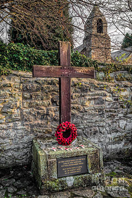 Cemetary Photograph - We Will Remember by Adrian Evans