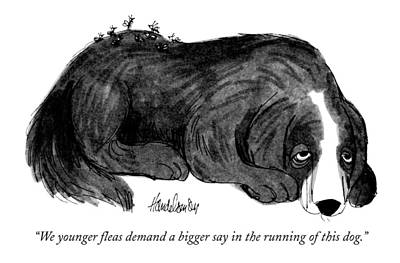 Hallmark Drawing - We Younger Fleas Demand A Bigger Say by J.B. Handelsman