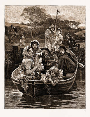 Weal And Woe, From The Painting By Charles Gregory Art Print