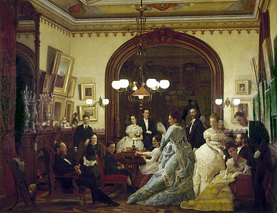 Painting - Wealthy American Family by Granger