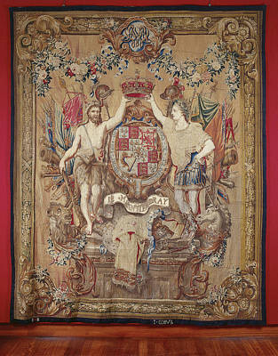 Queen Mary Drawing - Weapon Carpet Of King William IIi, Governor by Quint Lox