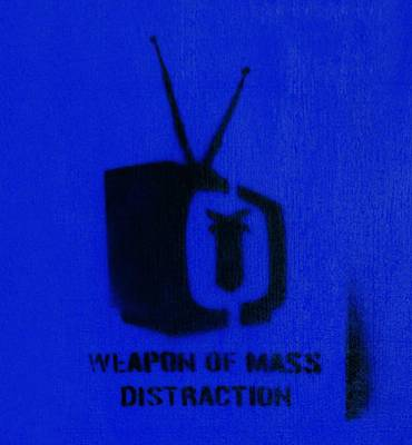 Stencil Art Photograph - Weapon Of Mass Distraction by A Rey