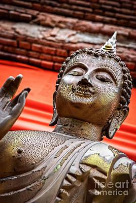Wear-and-tear Buddha Art Print